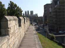 An image from the film of York walls